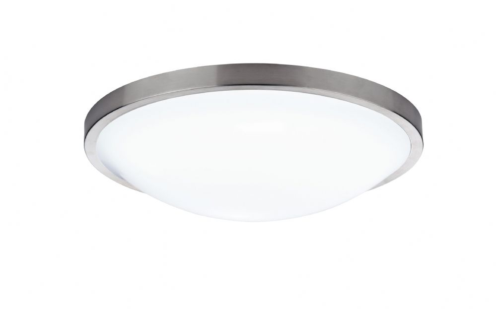 0.1) Dover Satin Chrome Flush IP44 Ceiling Light (Class 2 Double Insulated) BXDOV5246-17